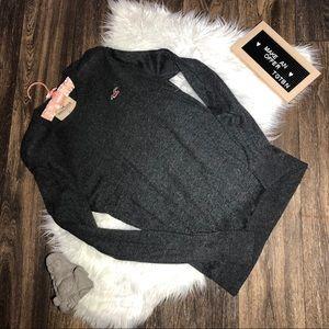 Hollister Grey Long Sleeve Lightweight Sweater Med